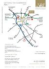 Sketch map of routes into Cambridge