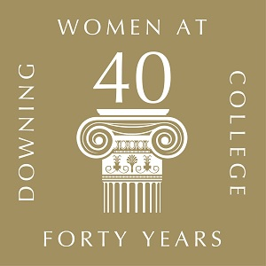 40 years of women at Downing logo