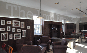 Newly refurbished Lord Butterfield Bar
