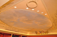 Painted ceiling in the Howard Theatre