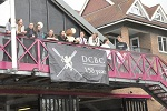 DCBC 150th Anniversary banner on the boathouse, Segreants Regatta 2013