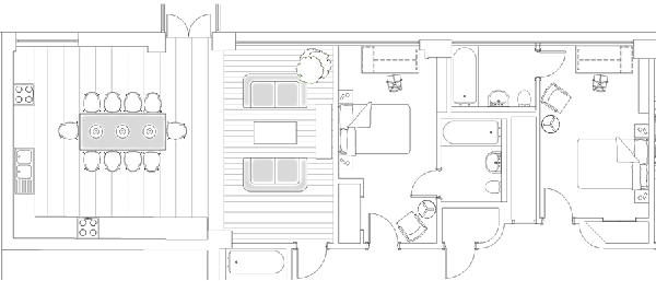 Marvelous Plan Of Common Room And Student Rooms In Parkeru0027s House