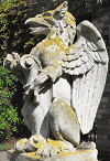 Carving of a griffin