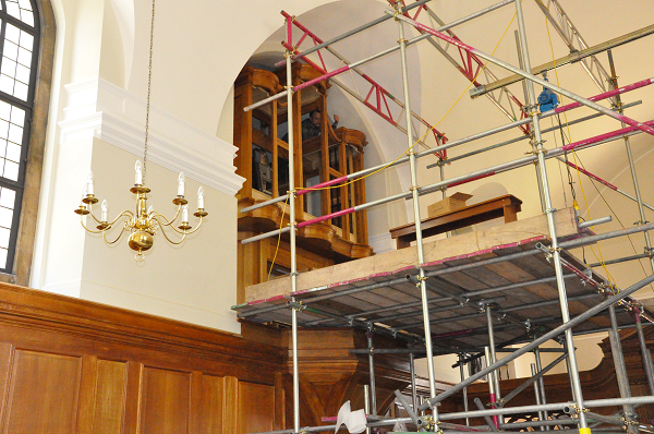The new organ takes shape